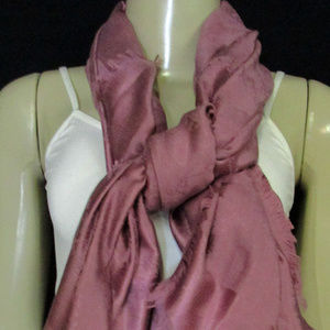 Coach Pink Dark Scarf One Size